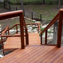 Stairs and Deck to Access Garden
